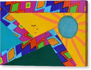 That Santa Fe Feeling Canvas Print by Donna Blackhall