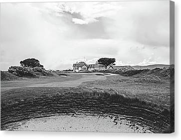 The 18th At Portmarnock Canvas Print by Scott Pellegrin
