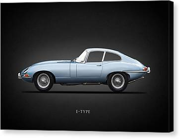 The 65 E-type Coupe Canvas Print by Mark Rogan