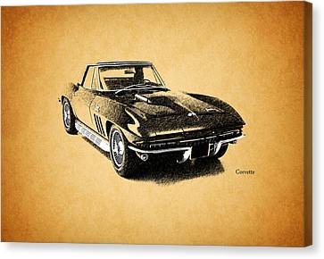 The 66 Vette Canvas Print by Mark Rogan