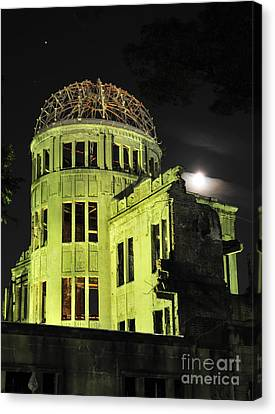 The A-bomb Dome At Night Canvas Print by Andy Smy