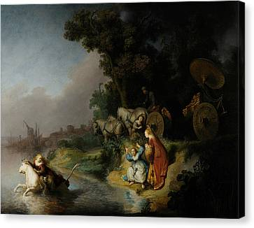 The Abduction Of Europa Canvas Print by Rembrandt