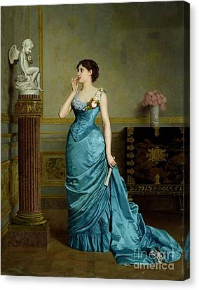 The Accomplice Canvas Print by Auguste Maurice Cabuzel