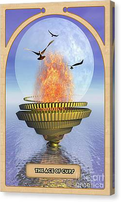 The Ace Of Cups Canvas Print by John Edwards