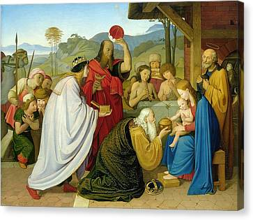 The Adoration Of The Kings Canvas Print by Bridgeman