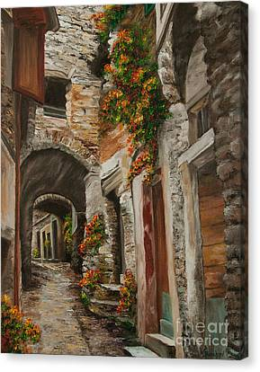 The Alleyway Canvas Print by Charlotte Blanchard