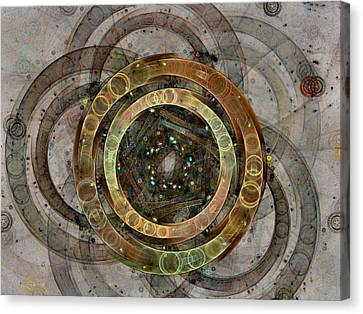 The Almagest - Homage To Ptolemy - Fractal Art Canvas Print by NirvanaBlues