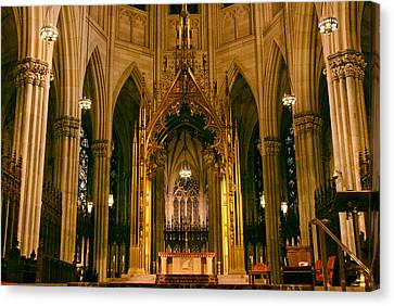 The Altar Of St. Patrick's   Canvas Print by Jessica Jenney