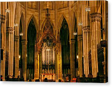 The Altar Of St. Patrick's Cathedral Canvas Print by Jessica Jenney