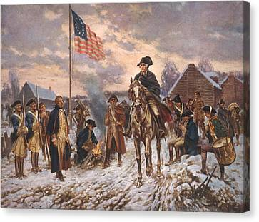 The American Revolution, George Canvas Print by Everett
