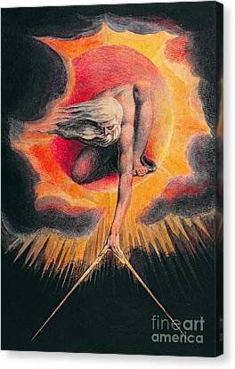 The Ancient Of Days Canvas Print by William Blake