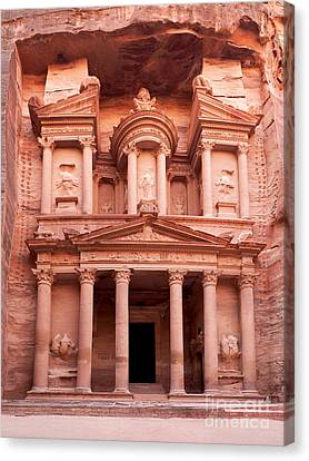 The Ancient Treasury Petra Canvas Print by Jane Rix