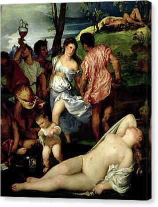 The Andrians Canvas Print by Titian