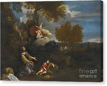The Angel Appearing To Hagar Canvas Print by Pier Francesco