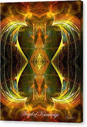 The Angel Of Knowledge Canvas Print by Diana Haronis