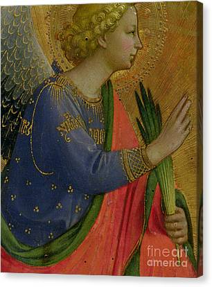 The Angel Of The Annunciation Canvas Print by Fra Angelico