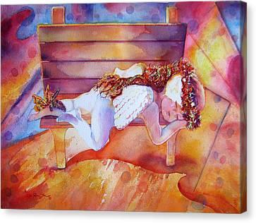The Angel's Nap Canvas Print by Estela Robles