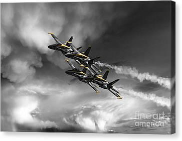 The Angels - Yellow Canvas Print by J Biggadike