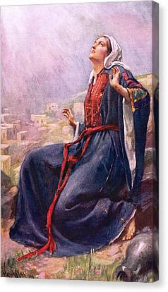 The Annunciation Canvas Print by Harold Copping