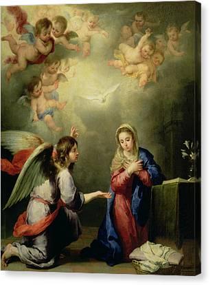 The Annunciation Canvas Print by Bartolome Esteban Murillo
