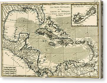 The Antilles And The Gulf Of Mexico Canvas Print by Guillaume Raynal
