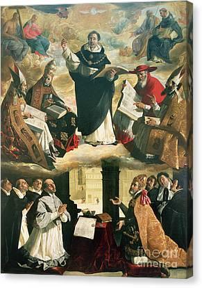 The Apotheosis Of Saint Thomas Aquinas Canvas Print by Francisco de Zurbaran