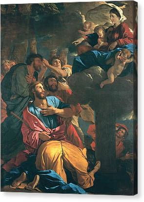 The Apparition Of The Virgin The St James The Great Canvas Print by Nicolas Poussin