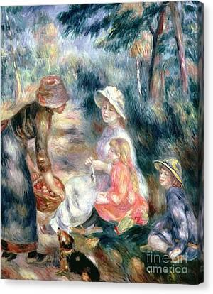 The Apple-seller Canvas Print by Pierre Auguste Renoir