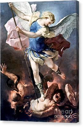 The Archangel Michael Canvas Print by Granger