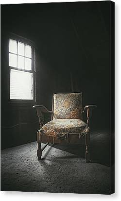 The Armchair In The Attic Canvas Print by Scott Norris