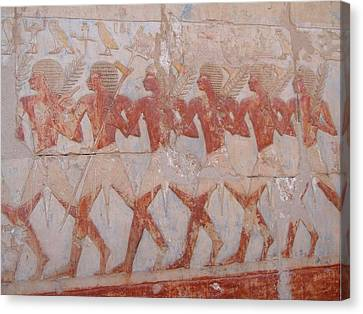 The Army Of Hatshepsut Canvas Print by Richard Deurer