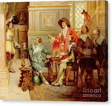 The Arrival Of D'artagnan Canvas Print by Alex de Andreis