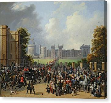 The Arrival Of Louis-philippe Canvas Print by Edouard Pingret