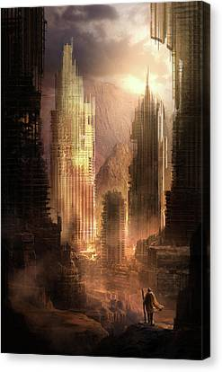 The Arrival Canvas Print by Philip Straub