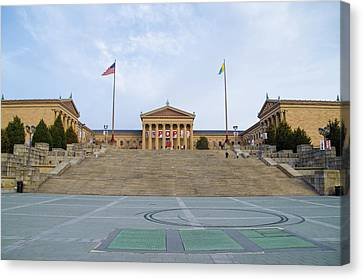 The Art Museum In Philly Canvas Print by Bill Cannon