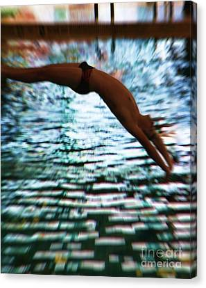 The Art Of Diving 5 Canvas Print by Jeff Breiman