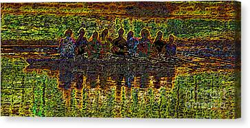 The Art Of Rowing Canvas Print by David Lee Thompson