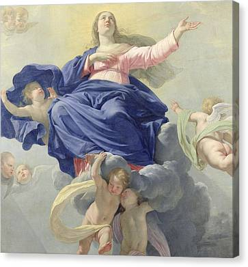 The Assumption Of The Virgin Canvas Print by Philippe de Champaigne