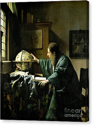The Astronomer Canvas Print by Jan Vermeer