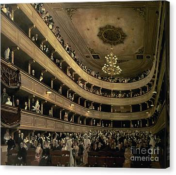 The Auditorium Of The Old Castle Theatre Canvas Print by Gustav Klimt