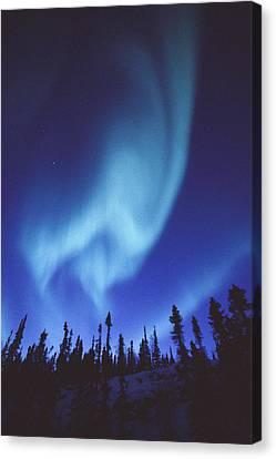 The Aurora Borealis Creates Fantastic Canvas Print by Paul Nicklen