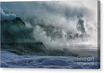 The Awe Of Yellowstone Canvas Print by Sandra Bronstein