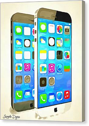 The Awesome Iphone 6 - Da Canvas Print by Leonardo Digenio