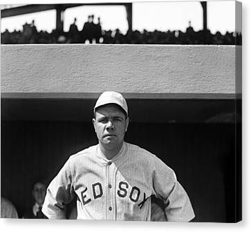 The Babe - Red Sox Canvas Print by International  Images