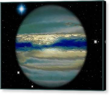 The Bands Of Jupiter Canvas Print by Mario Carini