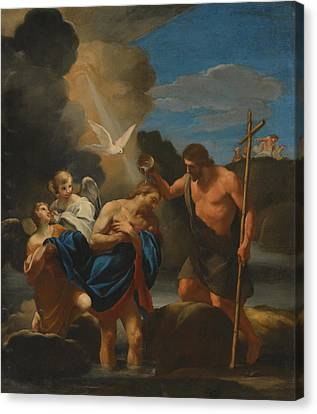 The Baptism Of Christ Canvas Print by Mountain Dreams