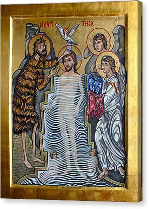 The Baptism Of Christ Canvas Print by Filip Mihail