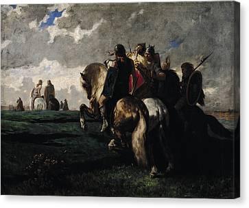 The Barbarians Before Rome Canvas Print by Evariste Vital  Luminais