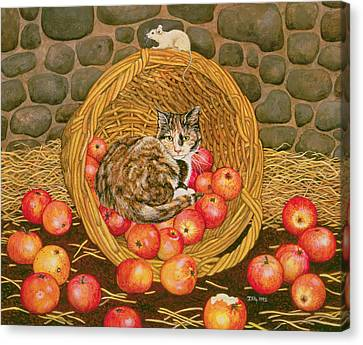 The Basket Mouse Canvas Print by Ditz