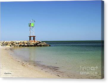 The Bass River Jetty South Yarmouth Cape Cod Massachusetts Canvas Print by Michelle Wiarda